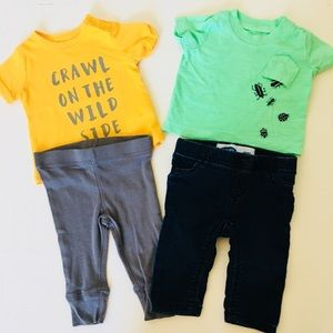 2 baby boy outfits.